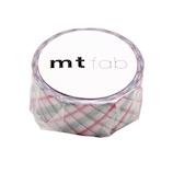 カモ井 マスキングテープ mt fabパールテープ MTPL1P01 チェック・パープル