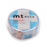 mt マスキングテープ 1P つぎはぎ MT01D445 ブルー×ピンク