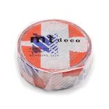 mt マスキングテープ 1P つぎはぎ MT01D446 ブルー×オレンジ
