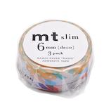 mt マスキングテープ slim deco MTSLIM25 G│シール マスキングテープ