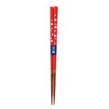 カワイ 食洗機対応箸 桜並木 赤 21cm