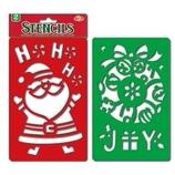【クリスマス】 スノースプレー用型シート サンタ&リース 0146576