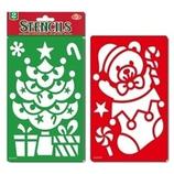 【クリスマス】 スノースプレー用型シート ツリー&ベア 0146577