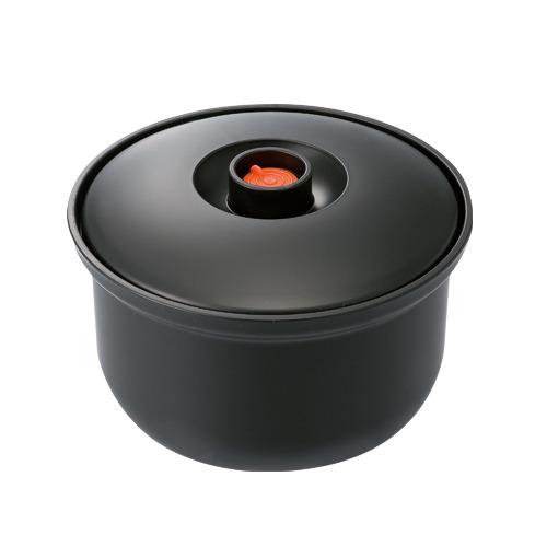 スケーター 真空おひつ ポンプ付き三合 BOH3│電子レンジ用品 電子レンジ調理器