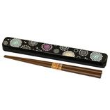ミタニ 箸・箸箱セット 華づくし 黒