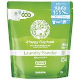 サラヤ ハッピーエレファント 洗たくパウダー 1.2kg│洗濯洗剤 衣類洗濯用洗剤