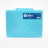 セキセイ 6インデックスフォルダー A4 ACT−906 ブルー│ファイル クリアホルダー