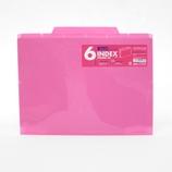 セキセイ 6インデックスフォルダー A4 ACT−906 ピンク│ファイル クリアホルダー