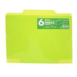 セキセイ 6インデックスフォルダー A4 ACT−906 ライトグリーン│ファイル クリアホルダー