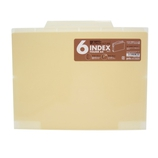 セキセイ 6インデックスフォルダー A4 ACT−906 クリーム│ファイル クリアホルダー