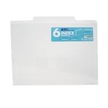 セキセイ 6インデックスフォルダー A4 ACT−906 クリア│ファイル クリアホルダー