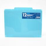 セキセイ 12インデックスフォルダー A4 ACT−912 ブルー│ファイル クリアホルダー