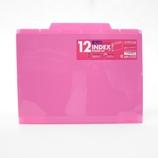 セキセイ 12インデックスフォルダー A4 ACT−912 ピンク│ファイル クリアホルダー