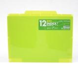 セキセイ 12インデックスフォルダー A4 ACT−912 ライトグリーン│ファイル クリアホルダー