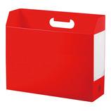 セキセイ ボックスファイル ヨコ AD−2651 レッド