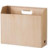 セキセイ ウッズスタイル ボックスファイル A4ヨコ WDS‐8651 ナチュラルブラウン