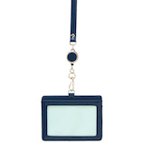 セキセイ ベルポスト リール付きIDカードホルダー BP‐5703 ブルー│名札・カードホルダー 名札ケース・IDカードケース