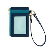 セキセイ ベルポスト ファスナーポケット付きパスケース BP‐5704 ブルー│財布・名刺入れ パスケース