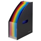セキセイ アドワン レインボードキュメントスタンド A4タテ AD‐2701 ブラック│ファイル ドキュメントファイル