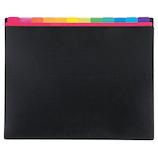 セキセイ アドワン レインボーインデックスフォルダー AD‐2012 ブラック│ファイル ドキュメントファイル