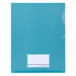 セキセイ シールックワイドフォルダー A4 CLK-2404 ブルー│ファイル クリアホルダー