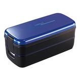 アスベル ランチボックス 2段 ランタスFL 640ml バッグ付 SS-T640 ネイビー