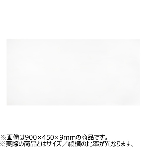 ウッディ カラーボード(MDF芯) 9×600×300mm 白