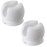 マーナ 歯ブラシホルダー W614W ホワイト 2個入│洗面用具・洗面所用品 ソープディスペンサー