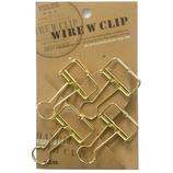 大 ワイヤーWクリップ 4P WDCP−14GD ゴールド