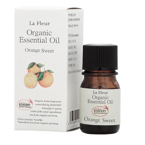 ラ・フルール オーガニック精油成分表付 スイートオレンジ