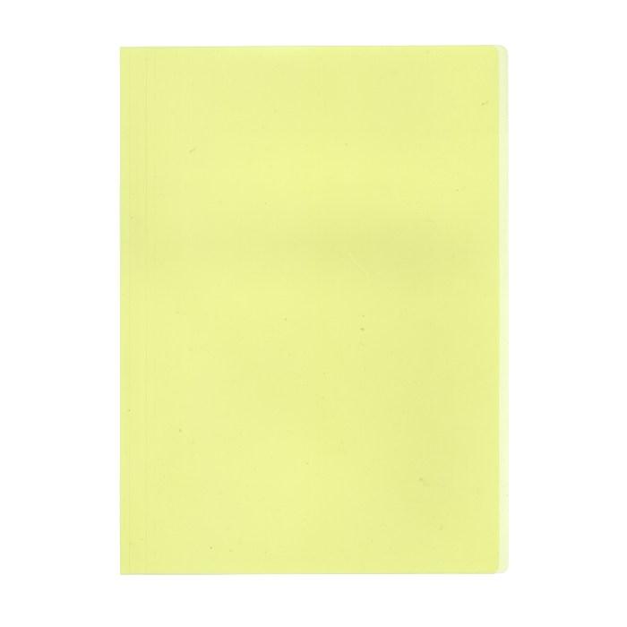 プラス カラーレール式クリアーホルダー 表紙単品 93−103 イエロー