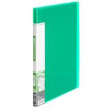 プラス(PLUS) 透明ポケットファイル A4 20ポケット 91-672 グリーン