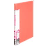 プラス(PLUS) 透明ポケットファイル A4 20ポケット 91-674 ピンク