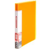 プラス(PLUS) 透明ポケットファイル A4 40ポケット 91-686 オレンジ│ファイル クリアファイル