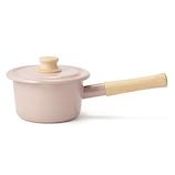 富士ホーロー コットンシリーズ ミルクパン 14cm アッシュピンク│鍋 片手鍋