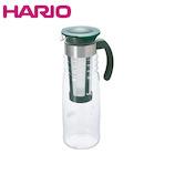 ハリオ(HARIO) かご網付き水出し茶ポット 1200mL HCC-12DG_ ダークグリーン│水筒・魔法瓶 ピッチャー・冷水筒