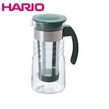 ハリオ(HARIO) かご網付き水出し茶ポット ミニ 700mL HCC-7DG_ ダークグリーン│茶器・コーヒー用品 ティーポット