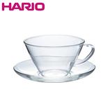ハリオ(HARIO) 耐熱カップ&ソーサー ワイド CSW-1T