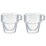 ハリオ(HARIO) ダブルウォールスタックカップ 2個セット DWS-3512│食器・カトラリー マグカップ・コーヒーカップ
