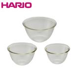 ハリオ(HARIO) 耐熱ガラス製ボウル 3個セット