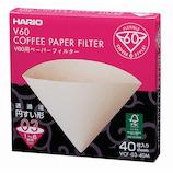 ハリオ(HARIO) V60ペーパーフィルター 03 M 40枚 VCF-03-40M│茶器・コーヒー用品 コーヒードリッパー・フィルター