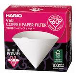ハリオ(HARIO) V60用ペーパーフィルターW VCF-01-100WK 100枚入│茶器・コーヒー用品 コーヒードリッパー・フィルター