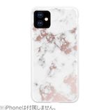 【iPhone11】 HABITU WHITE MARBLE ROSE GOLD WHITE MARBLE