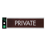 光 PRIVATE WMS1848‐4 ウォールナット│サインプレート その他 サインプレート