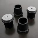 フェルト付き脚キャップ 適応サイズ22〜25mm ブラック