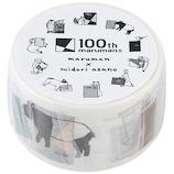 マルマン100th 100thマルマン×マスキングテープ 100MT3 アニマル│シール マスキングテープ
