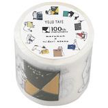 マルマン 100thマルマン YOJOテープ 100YJ2 B柄(アニマル)│ガムテープ・粘着テープ 養生テープ・マスキングテープ