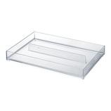 COBACO ストレージトレー(L)2分割 CB‐T20 クリア│収納・クローゼット用品 プラスチックケース・ボックス