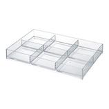 COBACO ストレージトレー(L)6分割 CB‐T21 クリア│収納・クローゼット用品 プラスチックケース・ボックス