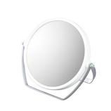 【お買い得】 10倍拡大鏡付き両面スタンドミラー ホワイト│メイク道具・化粧雑貨 手鏡・卓上ミラー